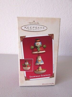 Hallmark Snowman Surprise Keepsake Christmas Ornament 2003