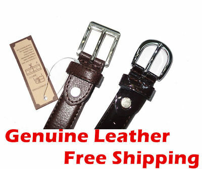 Kids Boys Girls Genuine Leather Belt Waistband Waist Strap Buckle Sz