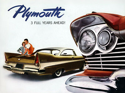 1957 Plymouth Fury, Refrigerator Magnet, 40 MIL Thick