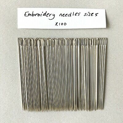 Embroidery Needles size 5 -pack of 100 - Hand Sewing - Good Quality -John James