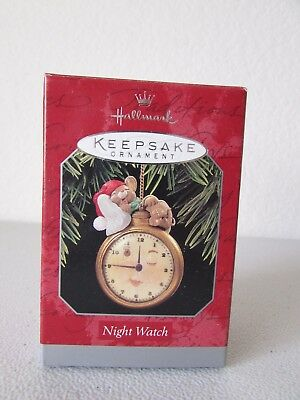 Hallmark Night Watch Mouse Pocket Watch Keepsake Christmas Ornament 1998