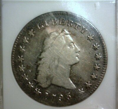 1795  Flowing Hair Silver Dollar  (Old) Anacs Vf-20  Bb-25  Nice Looking Coin!!