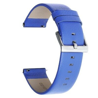 (Large, Blue) - Austrake Replacement Leather Bands Large wristbands for Fitbit