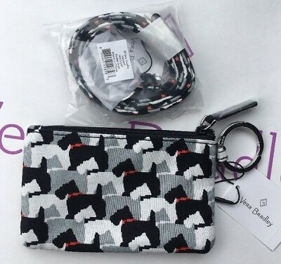 Vera Bradley * Zip ID Case & Lanyard * SCOTTIE DOGS * NEW