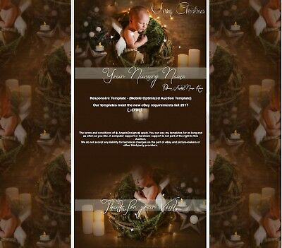 Reborn Baby Christmas Winter Responsive Mobil Auction Listing Template||670