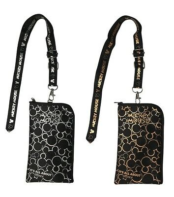 Mickey Mouse Lanyard, Mickey Lanyard Cell Phone ID Holder Case Coin Badge