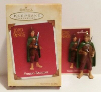 Mib Hallmark Christmas Ornament 2004 Lord Of The Rings Frodo Baggins Hobbit