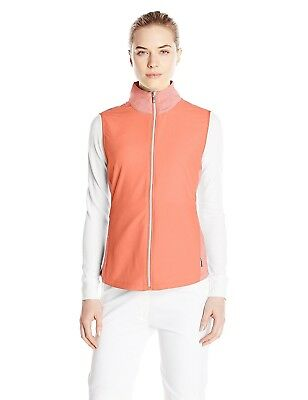 (Small, Spark) - Cutter & Buck Women's CB Weathertec Laura Hybrid Vest