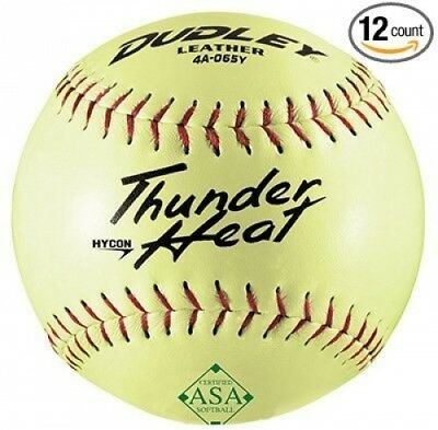 (12) - Spalding Sports Div Russell 4A-065YP Dudley Softball, Slow Pitch,