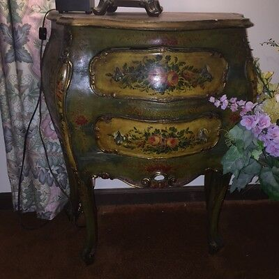 Vintage French Hand Painted Chest / Night Stand
