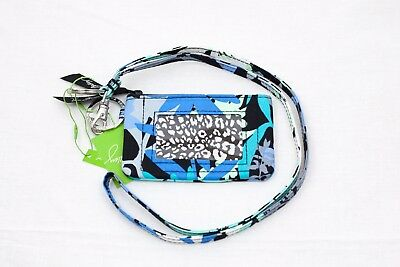 New Vera Bradley Zip Id coin Case and Lanyard set in Camofloral NWT