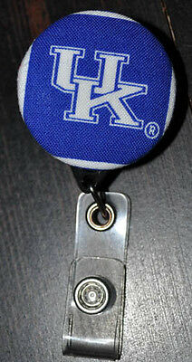 University of Kentucky Fabric Covered Retractable Badge with Alligator Clip