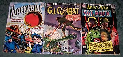 DC War Lot Blackhawk 124 GI Combat 119 Our Army At War 172 GD Silver Age