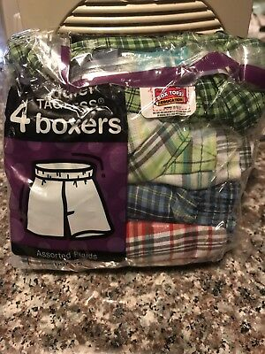 Hanes Toddler Boys Tagless Boxers 4T
