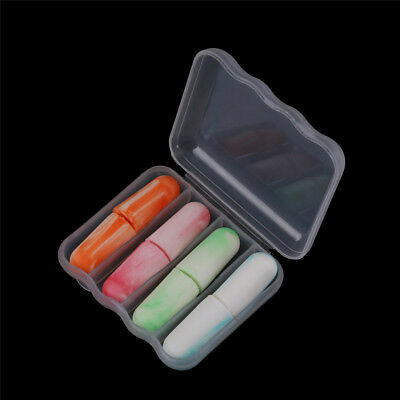 4pairs Soft Foam EarPlug Sleep Noise Prevention Earplugs Hearing ProtectionToLJ
