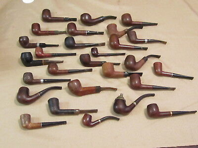 Vintage Estate lot of 27 Estate Pipes