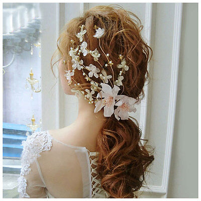 Hot Wedding Hair Accessories Lace Flowers Pearl Beads Alligator Hairpin HairClip