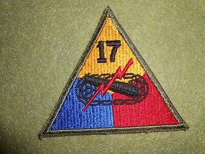 WW2 17th Armored Division Patch, scarce