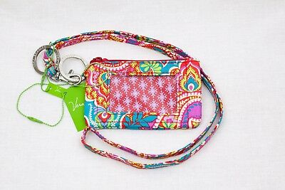 NWT Vera Bradley Lanyard and Zip ID Case set Paisley in Paradise