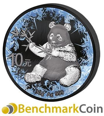 2017 Deep Frozen China Panda  - 1 oz Silver Coin w/ Ruthenium + PT - Only 999!