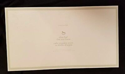 Pottery Barn Kids Baby Silver Leaf First Year Frame with Mat NIB