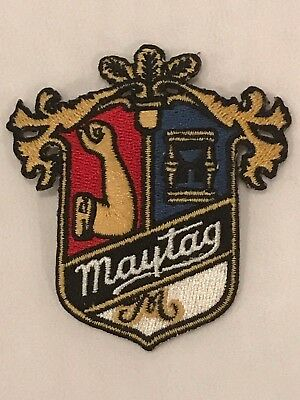 Vintage MAYTAG Brand Embroidered  Uniform Patch Crest Coat of Arms New EXCELLENT