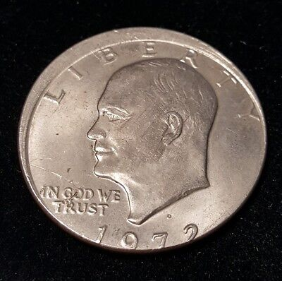 1972-D Ike Dollar Struck 7% Off-Center RARE