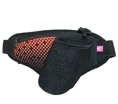 NEW MY TAGALONGS Fitness sport WAIST BAND, in Black with orange accents