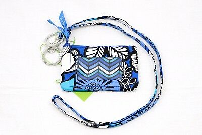 New Vera Bradley Zip Id coin Case and Lanyard set in Blue Bayou NWT