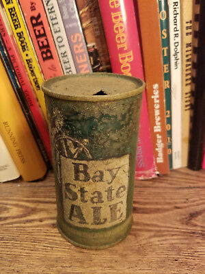 Bay State ALE 12oz Flat Top Beer Can OI