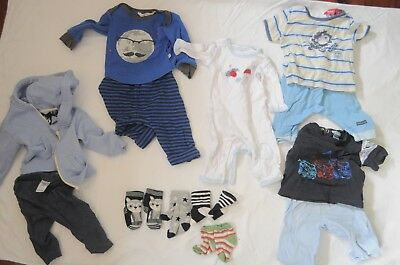 Baby boy bulk pack size 0000 - 00 including Fox and Finch, Bonds