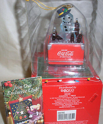 Vintage 1997 Coca Cola Brand Holiday Ornament Collectible~ Nib ~ Enesco
