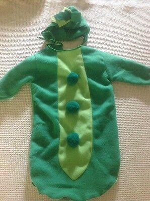 Baby Pea Pod Costume Size 6 month Halloween Picture Outfit Cute