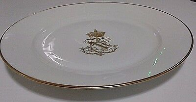 French Sevres King Louis Philippe Plate From His Palace Signed