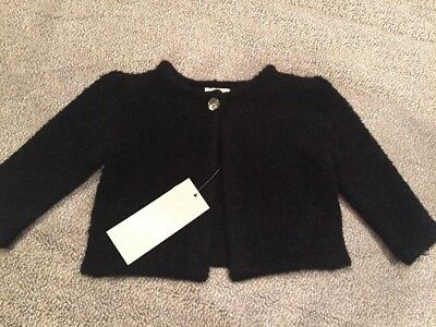 NWT Gymboree baby girl black holiday winter party dress sweater 0 3 6 9 12 month