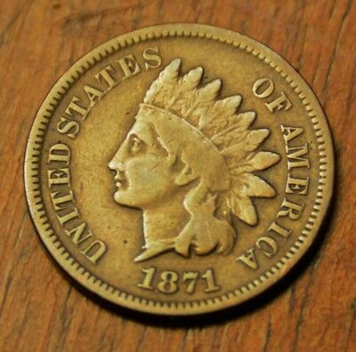 1871 Indian head Cent. key date penny. Very nice coin!
