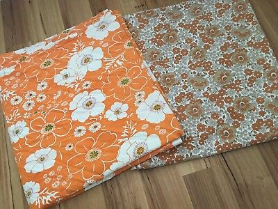 2 X Single Vintage Retro Sheets Flower Power Craft Cutter 1970s Look!