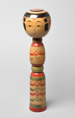 "Large 46cm (18.1"") Japanese Wooden Kokeshi Doll by Sato Tsugio (1908-1978)"