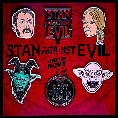 Stan Against Evil NYCC 2017 Exclusive Pin Set New York Comic Con NEW