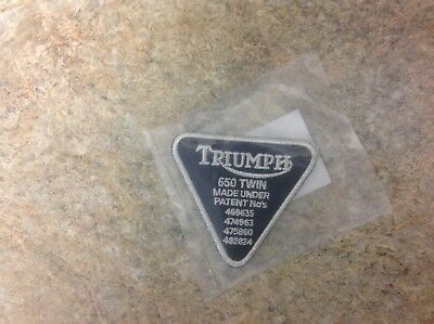 "Triumph Motorcycles ""Patent"" Patch"