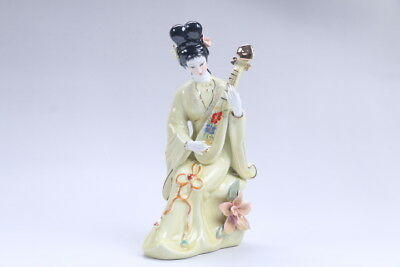 Exquisite Chinese hand carved Enamel porcelain beautiful woman statue aa03a