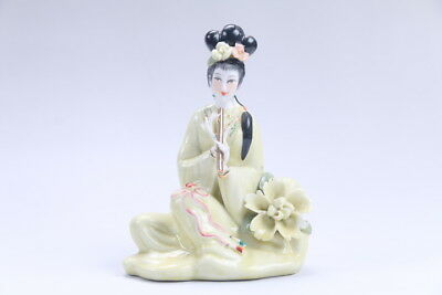 Exquisite Chinese hand carved Enamel porcelain beautiful woman statue aa06