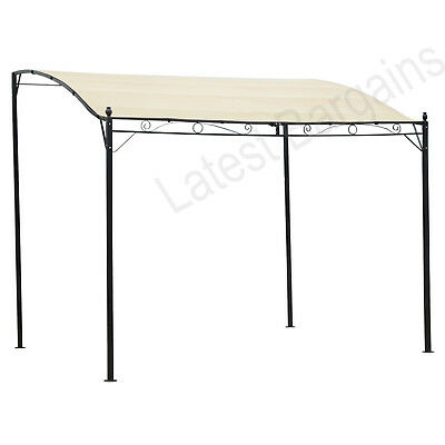 Outdoor 3x2.5M Canopy Gazebo Party Sunshade Marquee Awning Shelter Cream White
