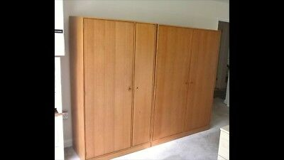Vintage Pair of Quality Stag Duet Wardrobes from 1960s