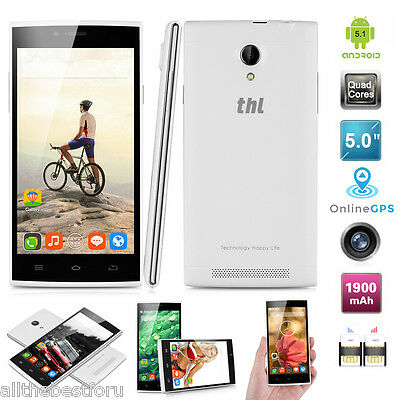 THL T6C Android 5.1 Quad Core 5.0''HD 8GB Cámara 8MP 3G Móvil Celular+Carcasa