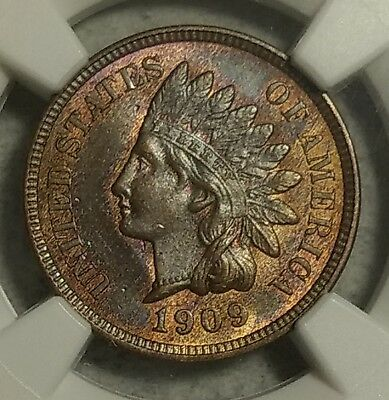 NGC MS-64 RB 1909 Indian Head Cent! Stunning specimen with amazing eye appeal!