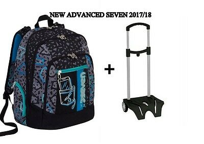 ZAINO new ADVANCED PLUS SHIFT + carrellino easy trolley porta zaino SEVEN 2017