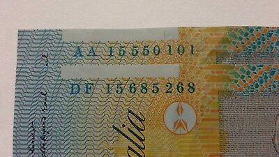 2 × 2015 $10 - First And Last Prefix Notes - Ten Dollars - Note - Aa15 And Df15