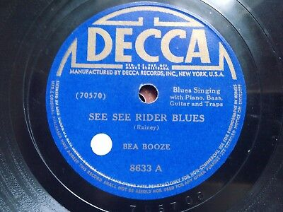 """Bea Booze: """"See see rider blues"""" / """"Catchin'as catch can"""""""