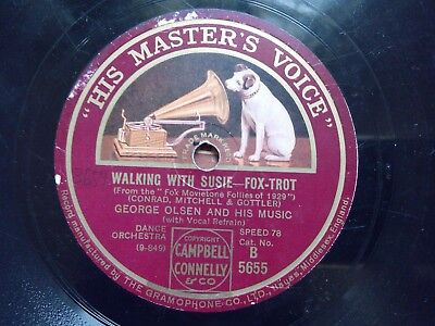 """George Olsen And His Music: """"Walking with Susie"""" / """"Big city blues"""""""